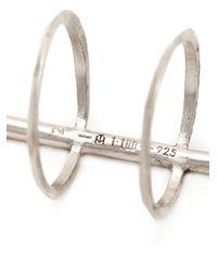 1-100 - Metallic Bar Detail Ring - Lyst