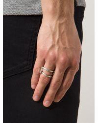 1-100 - Metallic '80' Ring - Lyst