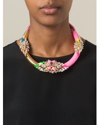 Shourouk - Pink 'zulu' Necklace - Lyst