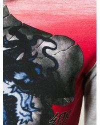 Jean Paul Gaultier - Gray Print Panel Top - Lyst