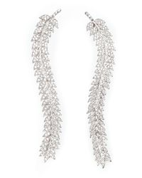 Joanna Laura Constantine | Metallic Encrusted Leaves Earrings | Lyst