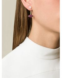 Delfina Delettrez - Metallic 'lips Piercing' Diamond And Ruby Earring - Lyst