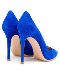 Gianvito Rossi - Blue Gianvito Suede Pumps - Lyst