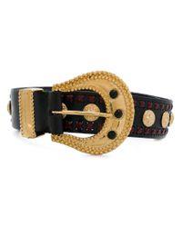 Dodo Bar Or - Black Embellished Buckled Belt - Lyst
