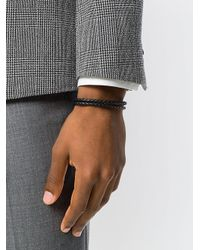 Canali - Black Woven Bracelet for Men - Lyst