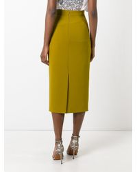 Roksanda - Green Bow Detail Pencil Skirt - Lyst