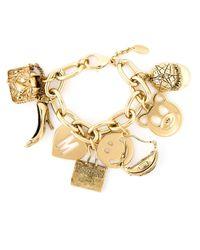 Moschino | Metallic Charm Bracelet | Lyst