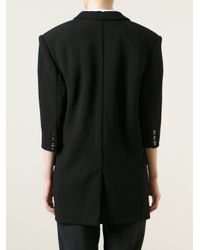 Barbara Bui - Black Structured Shoulder Blazer - Lyst