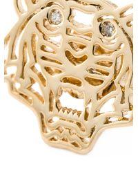 KENZO - Metallic Small 'tiger' Earrings - Lyst