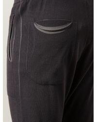 Label Under Construction - Black - Gathered Ankle Track Pants - Men - Cotton - L for Men - Lyst