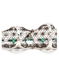 Dionea Orcini - Green 18k Gold Emerald Double Semiramis Ring - Lyst