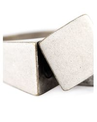 Maison Margiela | Metallic Asymmetric Signet Ring for Men | Lyst