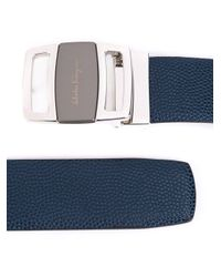 Ferragamo - Blue Logo Plaque Belt for Men - Lyst