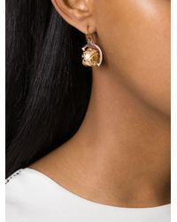 True Rocks - Metallic Globe Drop Earrings - Lyst
