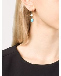 Irene Neuwirth - Blue Turquoise And Pearl Drop Earrings - Lyst