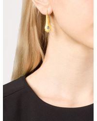 Marie-hélène De Taillac - Metallic Gold Peacock Feather Earrings - Lyst