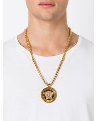 Versace | Metallic Medusa Necklace for Men | Lyst