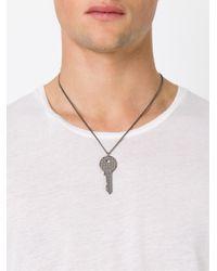Maison Margiela - Metallic Key Pendant Necklace for Men - Lyst