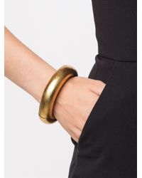 Monies - Metallic Large Tri Sectional Bracelet - Lyst