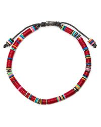 M. Cohen | Red Beaded Bracelet for Men | Lyst