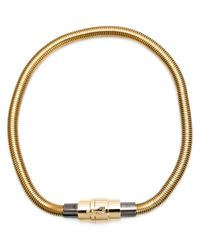 Lanvin | Metallic Snakechain Necklace | Lyst