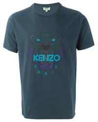 KENZO | Blue 'tiger' T-shirt for Men | Lyst