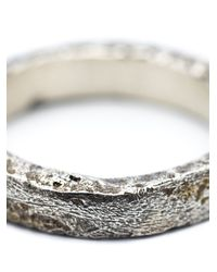 Pearls Before Swine Metallic Forged Band Ring