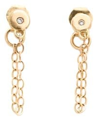 Melissa Joy Manning | Metallic Chain-wrap Diamond Post Earrings | Lyst