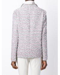 Giambattista Valli - White Button-Up Tweed Jacket - Lyst