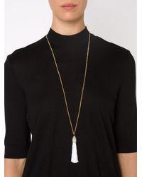 Eddie Borgo - Metallic Tassel Pendant Necklace - Lyst