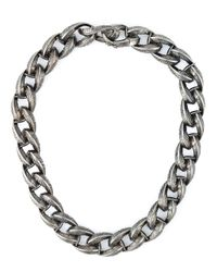 Garrard | Metallic Feather Chunky Chain Necklace | Lyst