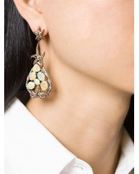 Gemco - Multicolor Diamond, Sapphire And Opal Earrings - Lyst