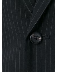 Yohji Yamamoto - Black Pinstripe Blazer - Lyst