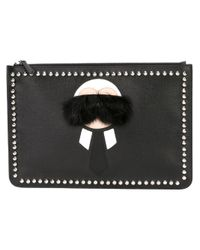 Fendi | Black 'karlito' Clutch for Men | Lyst