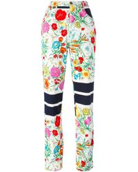 Moschino - White Floral Print High Waist Jeans - Lyst