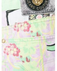 Versace - Green Mixed Print Jeans - Lyst