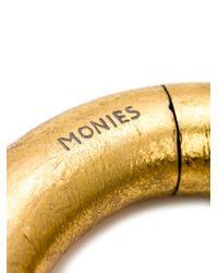 Monies - Metallic Medium Tri Sectional Bangle - Lyst