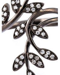 Joelle Jewellery - Black Diamond Leaves Ring - Lyst