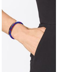 Gemma Redux - Black Marbled Paint Bangle - Lyst