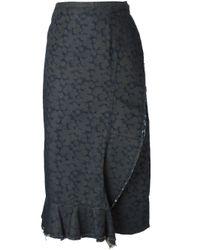 Comme des Garçons | Gray Wrap Denim Skirt | Lyst
