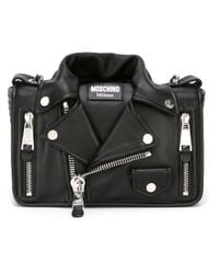 Moschino - Black - Biker Crossbody Bag - Women - Leather/metal (other) - One Size - Lyst