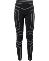 Love Moschino - Black Stitch Detailing Leggings - Lyst
