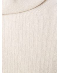 The Row - Natural 'leona' Knit Top - Lyst