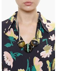 Marni - Black Horn Sphere Necklace - Lyst