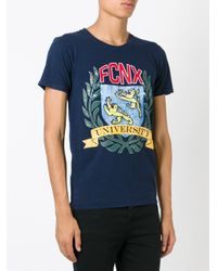 Faith Connexion - Blue - Fcnx University Print T-shirt - Men - Cotton - S for Men - Lyst