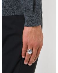 Ann Demeulemeester - Metallic Large Signet Ring for Men - Lyst