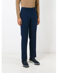 Loro Piana - Blue Tailored Trousers for Men - Lyst