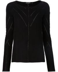 Tess Giberson | Black Pointelle Sweater | Lyst