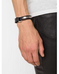 Werkstatt:münchen | Black Werkstatt:münchen Silver Curved Bar Bracelet | Lyst