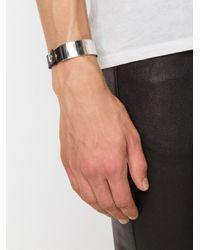 Werkstatt:münchen - Black Werkstatt:münchen Silver Plaque Bracelet - Lyst